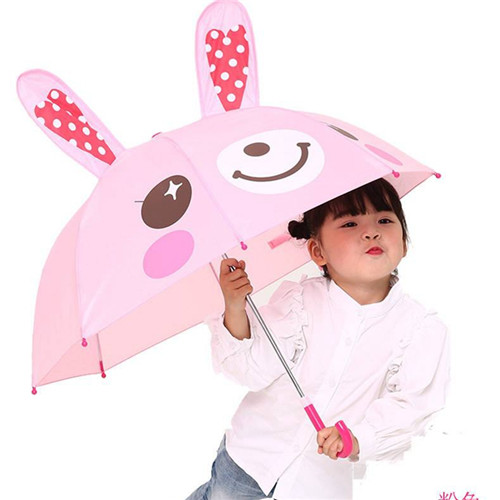 3D Ear Cartoon Style Print Kids Children Umbrella