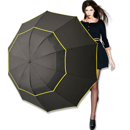 Outdoor Windproof Large 3 Floding Big Umbrella