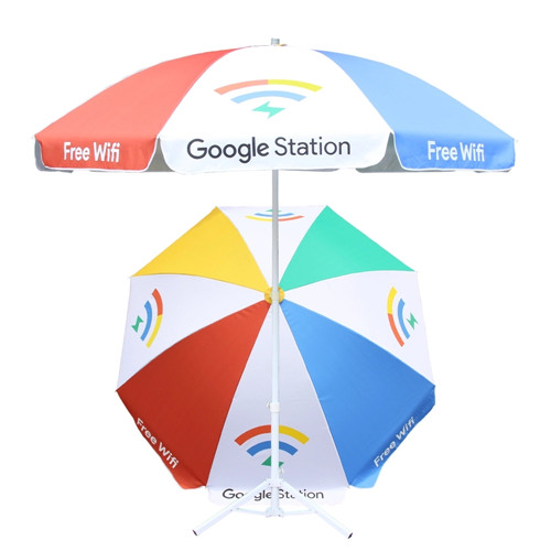 Promotional advertising custom outdoor beach umbrella with logo print