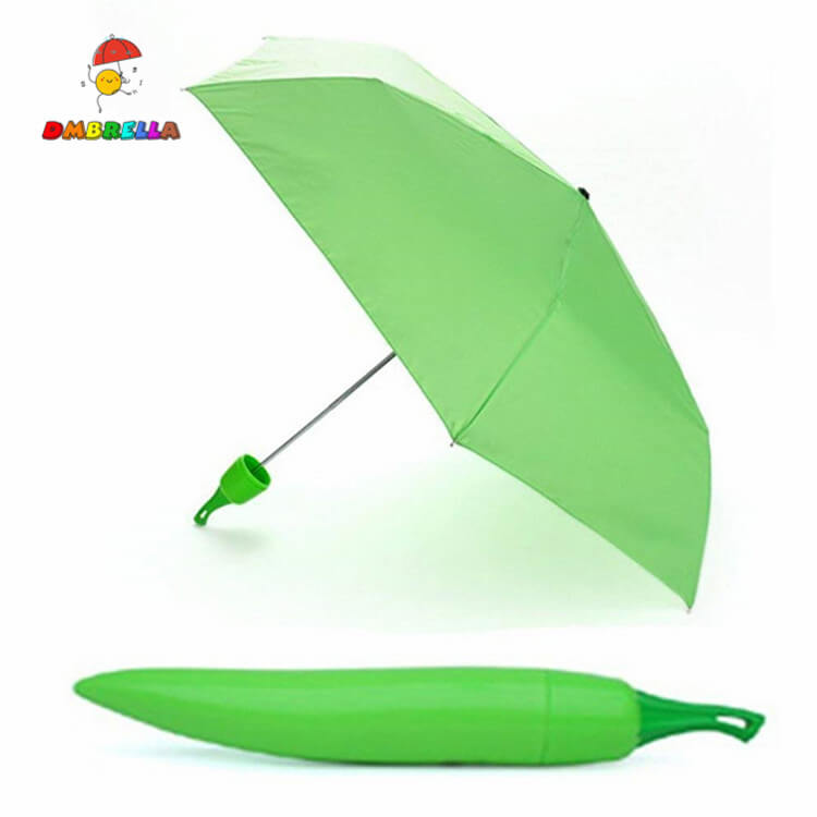Chili Bottle Design Children Kids Cartoon Umbrella