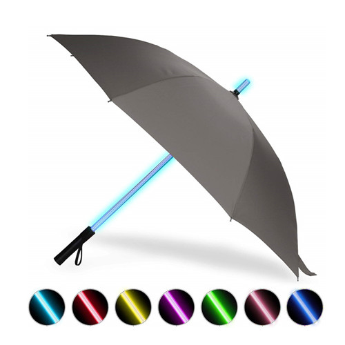 7 Color LED Lightsaber Light Up Golf Umbrella