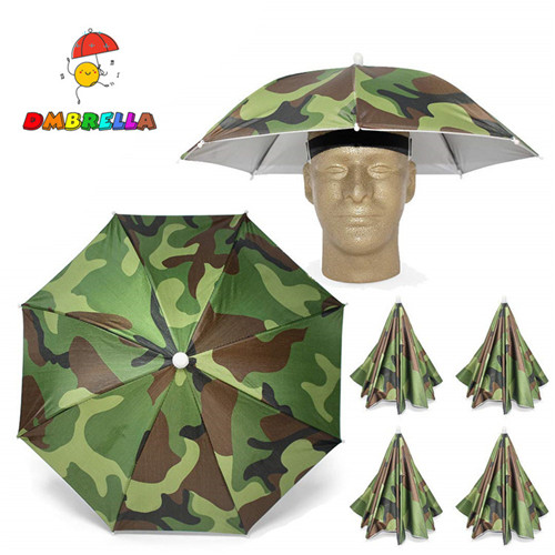 Outdoor Camping Fishing Hat Headwear Umbrella