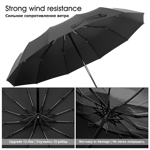 Strong Wind Resistant Folding Automatic Umbrella