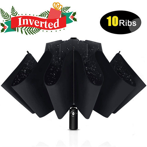 Portable Reverse Inverted Windproof Umbrella with Teflon Coating