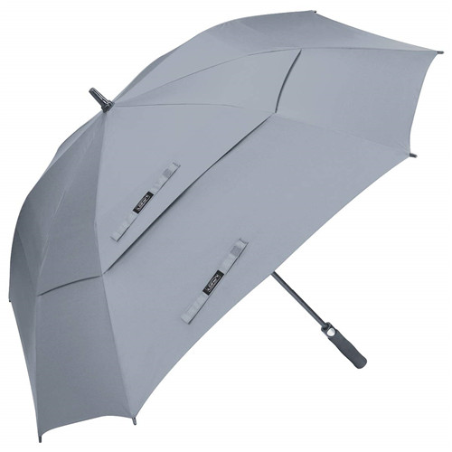 62inch Double Canopy Vented Square Windproof Automatic Open Stick Golf Umbrella